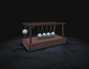 3D逼真的吊摆球动画特效