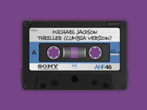 复古的磁带唱片ui动画特效