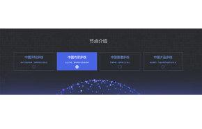 科技感的网络节点介绍ui布局