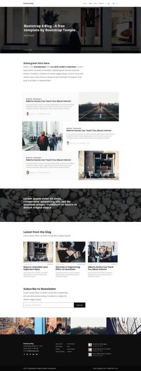 简单的图片博客bootstrap网站模板